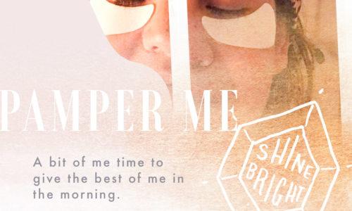Girl wearing night time eye masks.