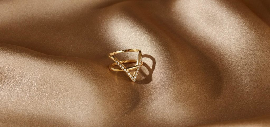 Gold dainty stackable rings