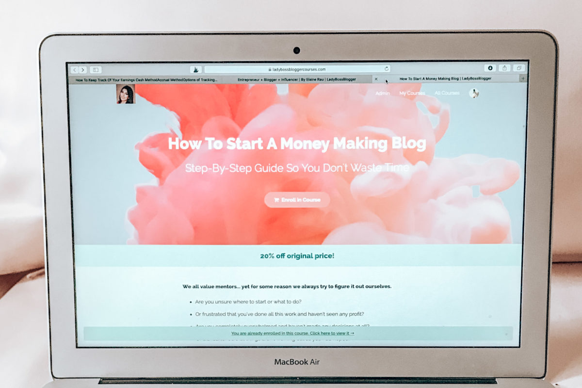 Money making blog course