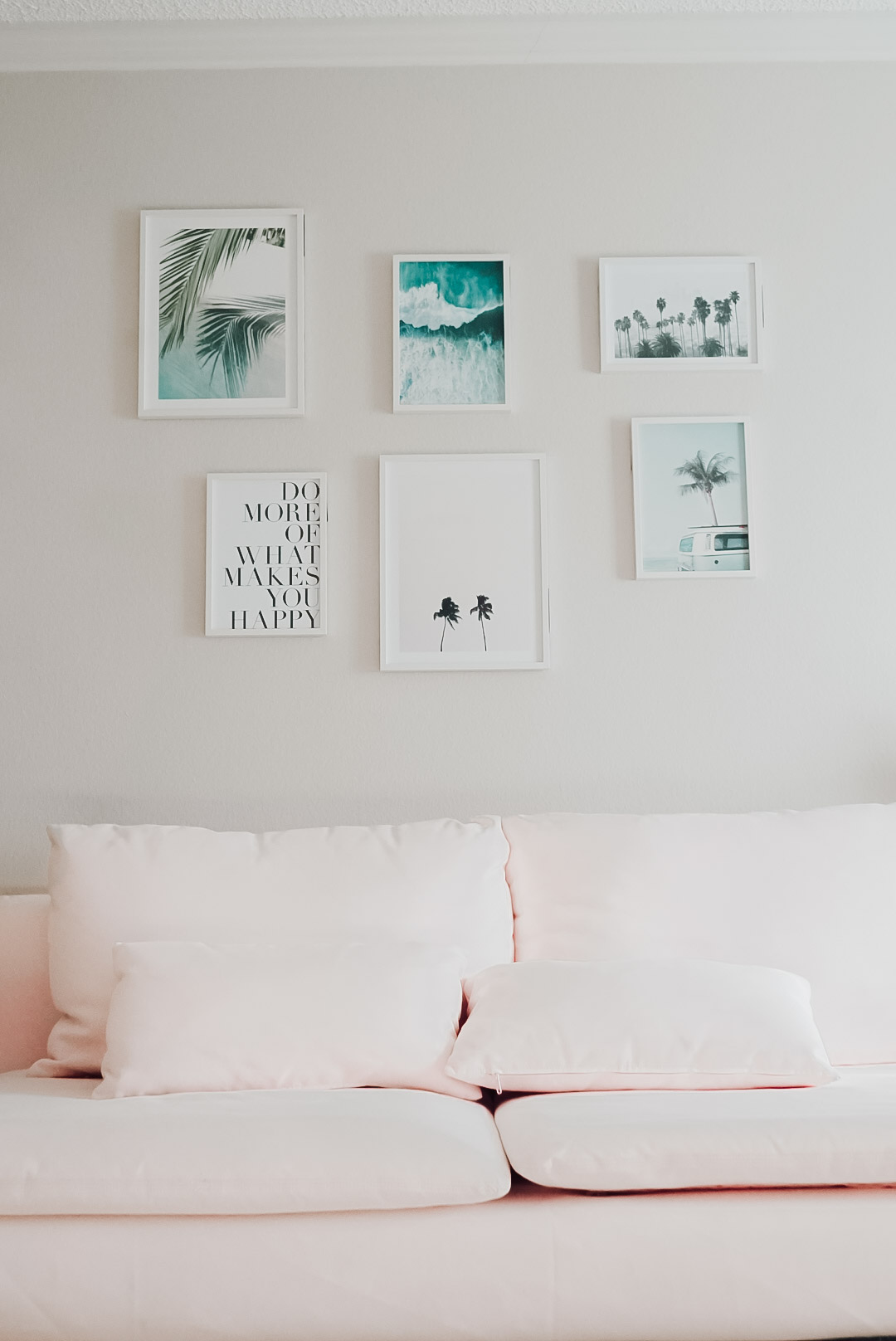 New boho chic gallery wall