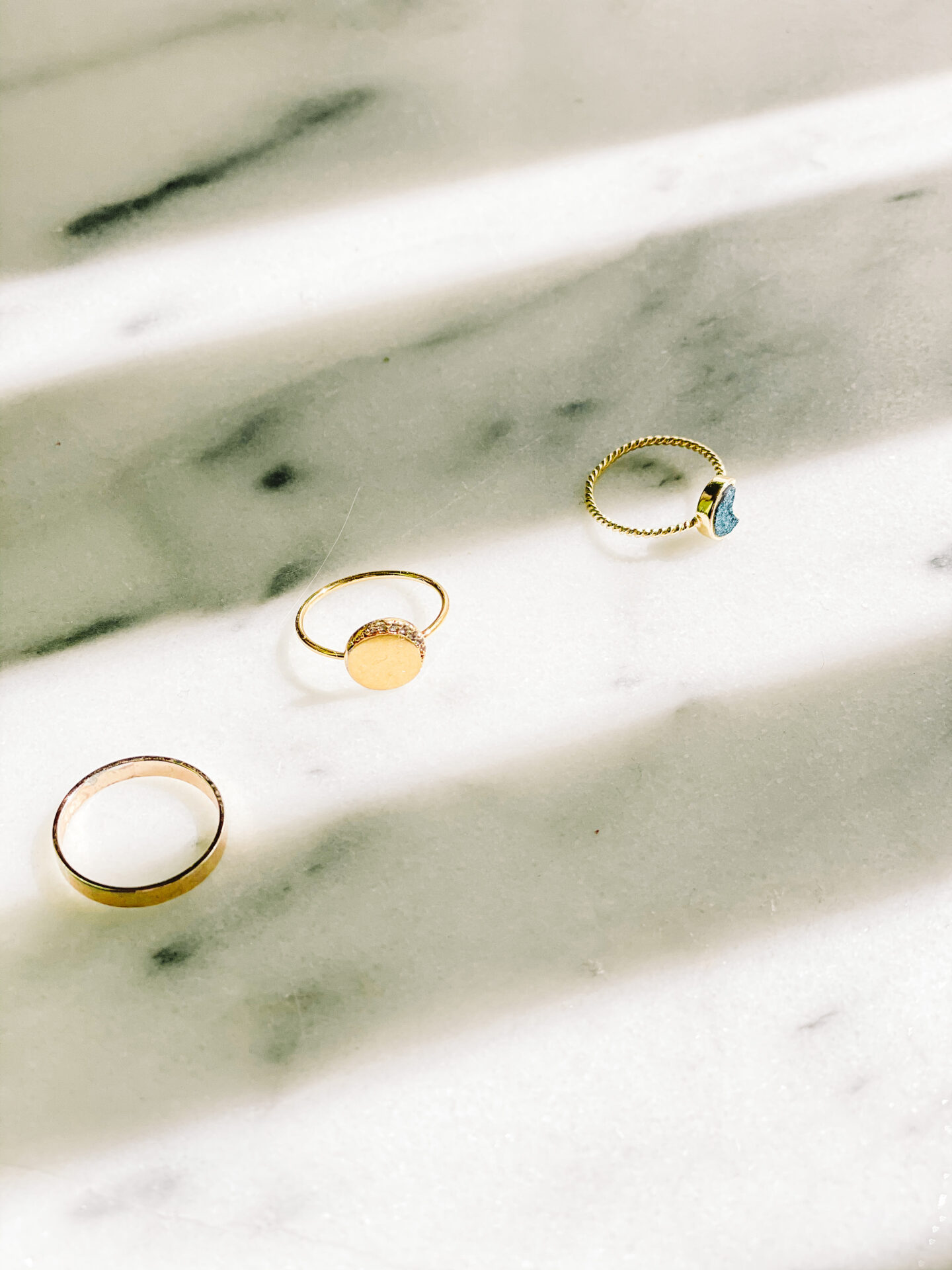 Gold dainty rings